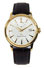 ▶$1 Shop Coupon◀  Orient Star SAF02001S Men s Classic Leather Band Gold Dial Power Reserve Automatic