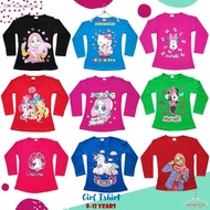 (7-12Y) Baju Budak Perempuan Lengan Panjang / Kids Girl T Shirt Long Sleeve (Islamic/ Muslimah)