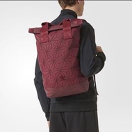 Adidas 3D Mesh Roll Top Backpack / Issey Miyake Style Bag (Wine Red/Burgundy DH0101)