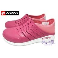 LOTTO樂得-義大利第一品牌 女款二代透氣排水潮流洞洞鞋 情侶鞋 [LT7AWS5372] 玫瑰紅【巷子屋】