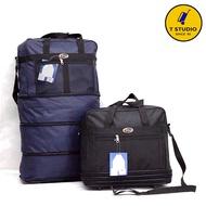 กระเป๋าเดินทางแบบขยายชั้นมีล้อลาก กระเป๋าเดินทางแบบสะพายข้างได้สามารถพับเก็บได้