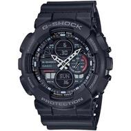 【CASIO 卡西歐】G-SHOCK 復古音響風格雙顯手錶(GA-140-1A1)