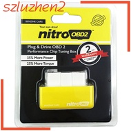 OBD2 Plug and Drive Performance Chip Tuning Box for Benzine Car Yellow
