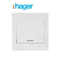 HAGER MUSE WATER HEATER / AIRCON 20AX Double Pole Switches With Neon