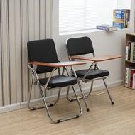 椅子 培訓椅帶寫字板椅子一體桌椅折疊會議室椅員工辦公椅新聞椅記者椅