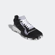 #ADIDAS  F97281  男 低筒籃球鞋鞋 黑/黑線/幾何格紋黑白Marquee Boost Low
