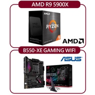 【ASUS 華碩】AMD R9 5900X+華碩 ROG STRIX B550-XE GAMING WIFI 主機板
