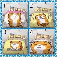 【新款特惠】多款任選 白爛貓床包組 通動漫床包組夏涼被可客製 單人/雙人/加大雙人、多尺寸任選  韓棉磨毛