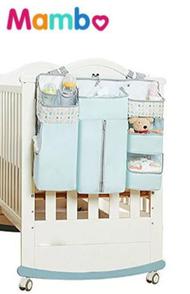 Baby Crib Hanging Organizer Portable Baby Crib Organizer Baby Diaper Caddy Organizer Crib Storage Bag Crib Organizer for Baby Baby Hanging Diaper Storage Organizer Bag for crib