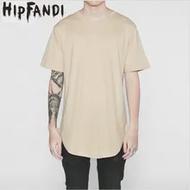 HIPFANDI 2020 แฟชั่น Hip Hop Street เสื้อยืดขายส่งแฟชั่นแบรนด์ผู้ชายฤดูร้อนสั้นแขนยาว OVERSIZE ออกแบบ EXTENDED T เสื้อ
