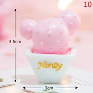 FUYU 10 Styles Resin Cactus Ornaments Miniature Figurines Cute Accessories Decoration