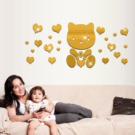 Love Bear Mirror Wall Sticker Acrylic Mirror Wall Sticker
