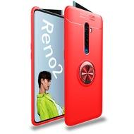 OPPO Reno2手机壳多功能带隐形磁吸车载手机支架OPPO A5 2020 Realme XT X2 A11X Reno2 Z保护壳TPU软壳带指环扣支架OPPO Reno 2 A9 2020手机套