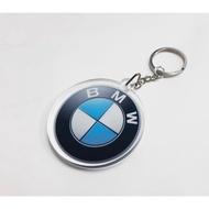 BMW鑰匙圈 LOGO 壓克力 M3 三彩 5X5CM