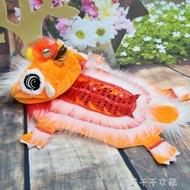 舞龍舞獅狗狗衣服醒獅紅色搞笑新年寵物唐裝喜慶招財貓咪衣服變身