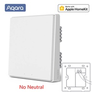(Delivered in Thailand) Xiaomi Aqara D1 smart switch wall switch Zigbee lighting switch 220V 50Hz can be used with Apple Homekit Siri remote control smart switch with remote control wireless key zero wire fire wire/no neutral switch