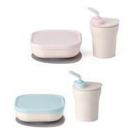 【品牌指定商品任兩件贈限量收納袋1入】美國 Miniware 天然聚乳酸兒童學習餐具 點心時光組(2色可選)