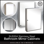 SUS304 Stainless Steel Bathroom Mirror Cabinets in Assorted Designs