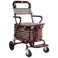 車折疊購物車座椅可坐四輪買菜可推小拉車老人手推車zg
