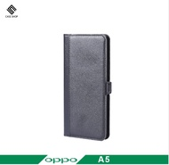 OPPO A5 2020 專用熱壓款前收納式側掀皮套 贈9H鋼化玻璃貼