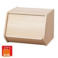 【特力屋】日本 IRIS 木質可掀門堆疊櫃 寬40cm 淺木色 E1板材 DIY