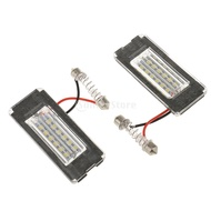 Pair Rear License Plate Light 18 LED Lamps Replace Parts for Mini Cooper R56