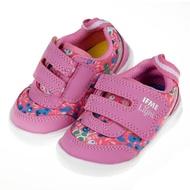【布布童鞋】日本IFME童趣印花桃紅超輕量寶寶機能學步鞋(P9Y001H)