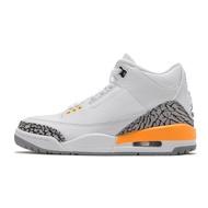 Nike 籃球鞋 Air Jordan 3 Retro 白 橘 女鞋 三代 AJ3 喬登【ACS】 CK9246-108