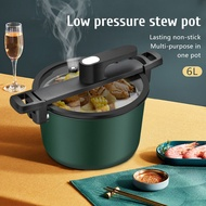 Multifunctional Micro Pressure Cooker Pressure Cooker 24CM Stock Pot 6L Stew Pot with Induction Cooker Gas Compatible