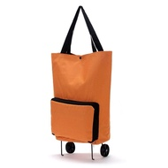 Large Thickened Canvas Lightweight Foldable Shopping Trolley Wheel Bag