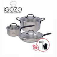 【Good Quality】IGOZO Stainless Steel Elite Cookware Set