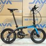 《免費送貨+送頭盔》JAVA X1-18S - 18速 16吋 碳纖 摺疊單車*油壓碟剎、啤令轆*