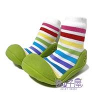 童款彩色條紋襪型學步鞋 襪鞋 寶寶鞋 [168] 綠【巷子屋】