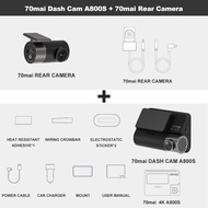 Dash Cam 4K A800S Dual Penglihatan A800S Gps Adas Depan dan Belakang Kereta Dvr 2160P 4K 24H Tempat Letak Kereta 140FOV