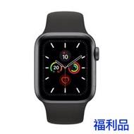 (福利品) Apple Watch S5 LTE, 44mm 太空灰鋁金屬錶殼搭 黑色運動型錶帶