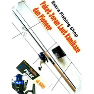 Kamikaze Fishing Rod Package Pioneer Full Fishing Reel With Minnow Line