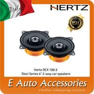 "Hertz DCX 100.3 Dieci Series 4"" 2-way car speakers"