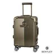 BENTLEY 29吋PC+ABS 升級鋁框拉桿輕量行李箱-鈦金綠