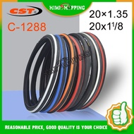 1pc CST Bike Tyres C1288 20 x 1-1/8 20×1.35 Speedway WIRE Tire 60TPI 451/406 small wheel diameter For Minivelo BMX Folding bicycle tire Bike Parts