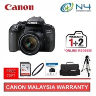 Canon EOS 800D 18-55 IS STM + 32GB + 58mm Filter + Template Glass + Camera Bag + Tripod(Online Redeem Extra Warranty)