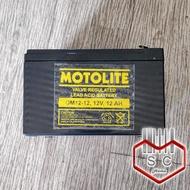 Motolite OM12-12 Rechargeable Battery 12V 12AH Valve Regulated Lead Acid (VRLA) for UPS, Solar, Toy cars, E-Bike, Emergency Light, Inverter (12 Months Warranty)