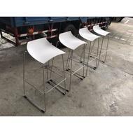 大慶二手家具 鐵製白色高腳椅/吧檯椅/櫃台椅