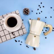 ของแท้ Moka Espresso (สีครีม) กาต้มกาแฟ มอคค่าพอท อลูมิเนียม อิตาเลี่ยนHagan 24 Shop0110 เครื่องชงกาแฟ เครื่องชงกาแฟสด เครื่องชงชา เครื่องชงชากาแฟ เครื่องทำกาแฟ
