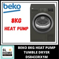 {KL & Klang Valley Area Only}BEKO DS8433RX1M 8KG HEAT PUMP TUMBLE CLOTHES DRYER