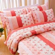 【名流寢飾家居館】花粉之戀.100%精梳棉.歐式鋪棉枕頭套.全程臺灣製造