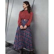 日貨Redyazel復古格紋氣質裙擺洋裝