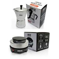 ของแท้ แพ็คคู่ เตาไฟฟ้า iMix+มอคค่าพอท (MOKA POT) iMix 6 แก้วKaykai Shopza.0154 หม้อต้มกาแฟ หม้อต้มกาแฟ สด หม้อต้มกาแฟ เตา หม้อต้มกาแฟ moka pot6 กาต้มกาแฟ