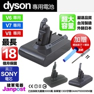 【送前後濾網&起子】 台製高品質 Dyson 戴森 DC62 DC59 DC74 V6 V7 V8 電池 保固最長18月 bsmi認證