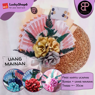 Buket Bunga Kertas Uang Mainan CW Flower Bouquet Wisuda Hadiah Gift Graduation Ulang Tahun Murah Ultah Cowok 2021
