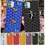 Goyard Designเคสโทรศัพท์สีสันสำหรับIphone 12 11 Pro11 Pro Max X XS XR XSสูงสุด8Plus 7 6Splus 5S Se 7Plus Case